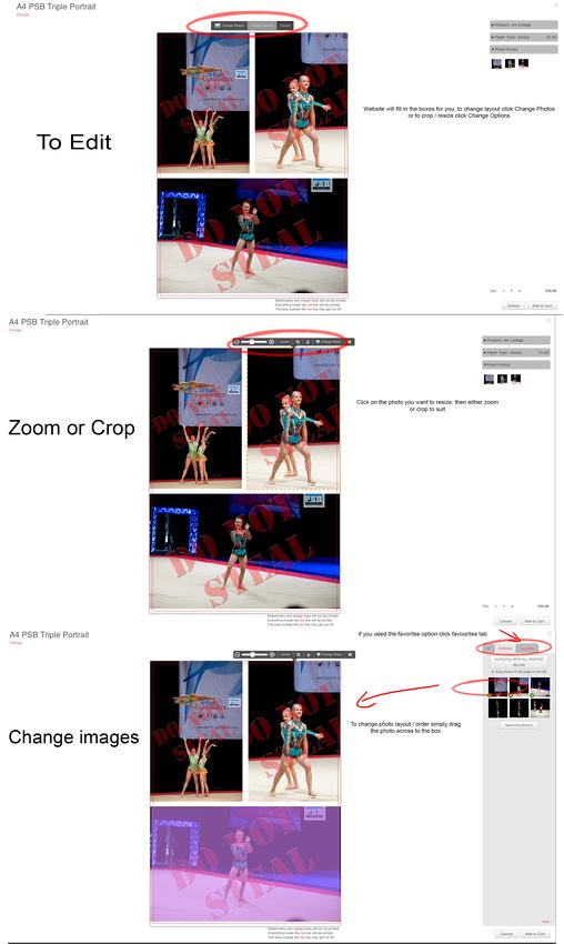 Collage editing